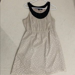 Beige and black Silky Party Dress Sz 12